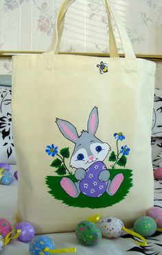 Tote Bag With Easter Bunny