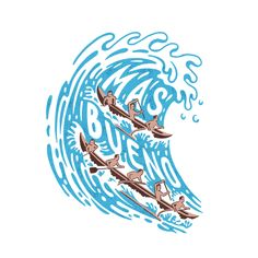 """Without boats and """"plastic retriever"""" Wave Illustration, Graphic Design Illustration, Surf Design, Logo Design, Summer Logo, Summer Prints, Summer Design, Nautical Logo, Quote Prints"""