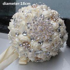 Ivory Cream Brooch Bouquet Wedding