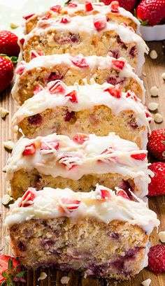 Strawberry Pound Cake with fresh strawberries and beautiful white glaze will be your perfect solutions for starting the spring dessert season. Spring Desserts, Just Desserts, Dessert Recipes, Christmas Desserts, Desserts Printemps, Pound Cake With Strawberries, Pound Cake Recipes, Pound Cakes, Strawberry Desserts