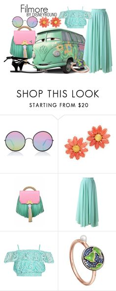 """""""Filmore"""" by leslieakay ❤ liked on Polyvore featuring Sunday Somewhere, Kate Spade, The Volon, Chicwish, Astley Clarke, disney, disneybound and disneycharacter"""