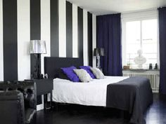 Modern Interior Decorating, Black plus another Color Combination
