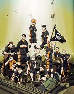 Imagen promocional de la segunda temporada de Haikyuu!! desde el Jump Festa.
