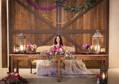 Purple Rustic Wedding