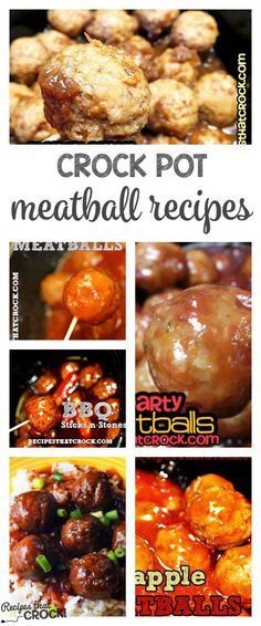 Crock Pot Meatball Recipes: Tons of great ways to make meatballs options from savory to sweet.