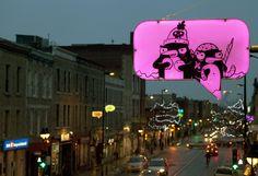 La mise en lumière hivernale: Idée-O-Rama - L'avenue du Mont-Royal