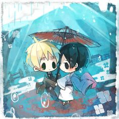 Tuma (TUMART), Axis Powers: Hetalia, Japan, United Kingdom, England, Rain, Umbrella