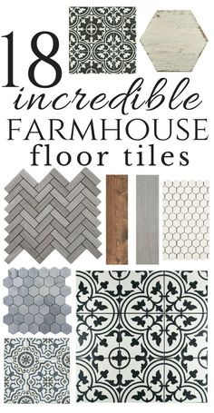 So many inspiring farmhouse style floor tiles. I personally love the mosaic tiles! Be bold in your design choices:) tile 18 Incredible Farmhouse Bathroom Floor Tiles Farmhouse Chic, Farmhouse Design, Country Farmhouse, Farmhouse Ideas, Farmhouse Interior, Country Kitchens, Vintage Farmhouse, Vintage Wood, Faux Wood Tiles