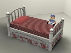 My Sims 3 Blog: Most Viewed - Sleepy Time Toddler Bed by daluved1