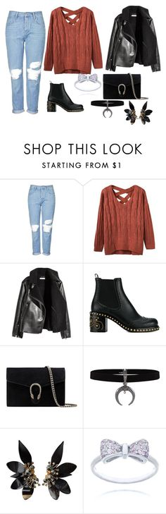 """""""BOYFRIEND JEANS"""" by megi-queen ❤ liked on Polyvore featuring Topshop, Miu Miu, Gucci and Marni"""