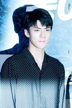 Sehun - 160704 'Seondal: The Man Who Sells The River' VIP première Credit: Light, Breeze. ('봉이 김선달' VIP 시사회)