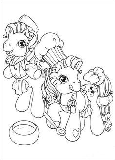 Ponies Making A Cake Coloring Page Color In This And Others With Our Library Of Online Pages