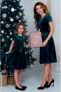 Сукня для дівчинки оксамитова з пишною спідницею та поясом-бантом • колір: темно-зелений • інтернет магазин • vilenna.ua