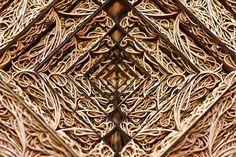 Moderne Kunst aus Papier durch Laser Cut-Technik