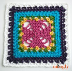 Block #5 in the Moogly Afghan 2015 CAL - Unbroken Hearts!