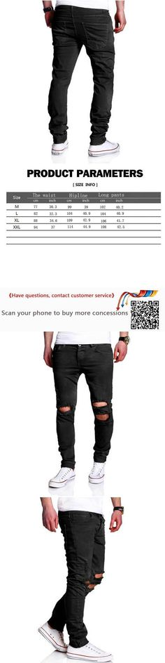 Men's jeans high quality Hole jeans men fashion Casual Slim Jeans Pants ripped jeans for men denim trousers free shipping