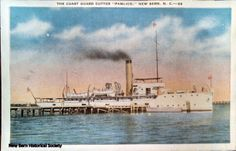#US Coast Guard Cutter #Pamlico built in 1907 patrolled the waters of #Eastern North Carolina and often docked at the foot of #Pollock Street, #New Bern.  It was decommissioned in 1947.