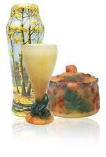 ChasenAntiques.com: FRENCH GLASS - Gallé (Galle) - Chrysanthemum vase
