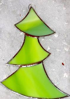 stained glass tree ornament!