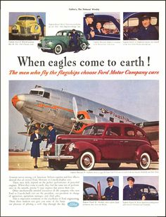 1940 Ford with DC3 Flagship airliner