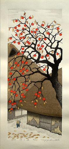 Persimmon in Autumn, 2007, by Kazuyuki Ohtsu