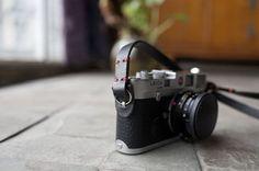 Handmade vintage Leather camera strap.