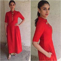 Aditi Rao Hydari in payalkhandwala Silk Kurta and Brocade Trousers Women's Ethnic Fashion, Indian Fashion, Style Fashion, Fashion Beauty, Indian Designer Outfits, Designer Dresses, Indian Dresses, Indian Outfits, Indigo Dress