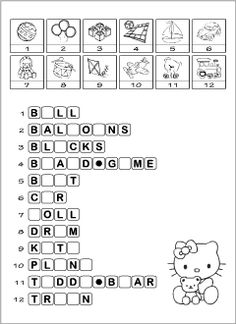 ESL recources to learn and teach English vocabulary connected with the theme Toys: printable worksheets, flashcards, word games and activities. Learning English For Kids, Kids English, Teaching English, Fun Learning, Learn English, Vocabulary Worksheets, Kindergarten Worksheets, Worksheets For Kids, English Vocabulary