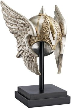 Valkyrie Helmet Statue upon Museum Mount. -------> I.Want.
