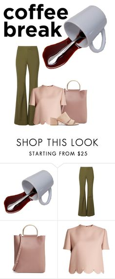 """""""Coffee break"""" by faye-valentine on Polyvore featuring 10 Crosby Derek Lam, Topshop, Valentino and Vince"""