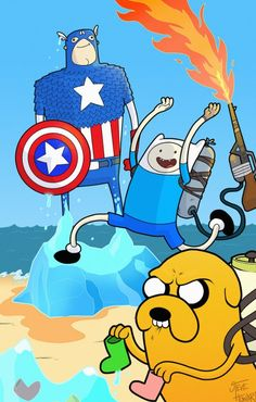 Adventure time x captain America