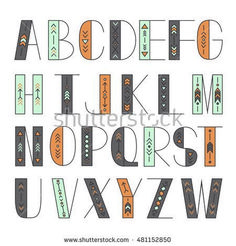 Find Latin Alphabet Vector Typography Design Set stock images in HD and millions of other royalty-free stock photos, illustrations and vectors in the Shutterstock collection. Doodle Fonts, Doodle Lettering, Creative Lettering, Lettering Styles, Lettering Design, Alphabet Design, Fonte Alphabet, Caligraphy Alphabet, Hand Lettering Alphabet