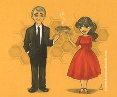 Chuck and Ned - Pushing Daisies... I miss this show!