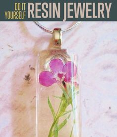 DIY Resin Jewelry   Learn how you can make homemade nature-inspired jewelry today. This would make a great project. #DiyReady www.diyready.com #HomemadeJewelry