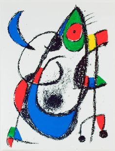 Joan Miró Abstract Print - Lithograph Xi From Miro Lithographs Ii Maeght Publisher 1975 Joan Miro Artwork, Joan Miro Paintings, Spanish Painters, Spanish Artists, Contemporary Artwork, Modern Art, Traditional Paintings, Exhibition Poster, Art Studies