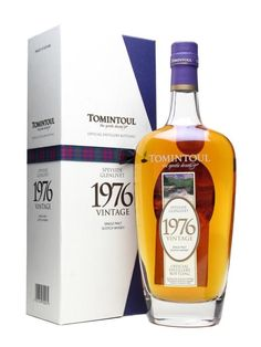 Tomintoul The Gentle Dram 1976 Vintage Speyside Glenlivet Single Malt Scotch Whisky Scotch Whiskey, Bourbon Whiskey, Bourbon Drinks, Irish Whiskey, Speyside Whisky, Whisky Club, Blended Whisky, Spiritus, Home Brewing Beer