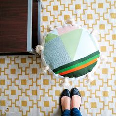 Make a nice pouf using upcycled materials.
