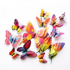 style Double layer Butterfly Wall Sticker on the wall Home Decor Butterflies for decoration Magnet Fridge stickers.New style Double layer Butterfly Wall Sticker on the wall Home Decor Butterflies for decoration Magnet Fridge stickers.