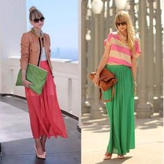 maxi skirt outfit ideas #trends