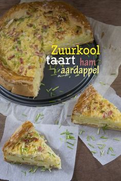 Zuurkooltaart -> let op: aardappels voorkoken! En 150 ml melk/kookroom, niet 300 ml Vegan Diner, Oven Dishes, Savoury Baking, Healthy Slow Cooker, Dutch Recipes, Love Food, Food Porn, Food And Drink, Healthy Eating