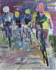"""The Sprint"". Le Tour De France inspired this image of the cyclists starting their sprint for the finish."