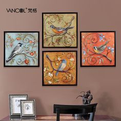 Free Shipping Birds Decorative Fashion Home Paintings Oil Painting On Canvas Inpainting