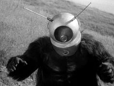 Ro-Man from Robot Monster, One of the silliest movies ever made. A man in a gorilla suit with a space helmet. Robot Monster, Steampunk, Mystery Science, Classic Sci Fi, Pulp, Marvel Films, Vintage Horror, Creature Feature, Cinema