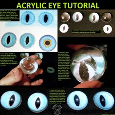 fursuit acrylic eye tutorial by fenrirschild on DeviantArt Fursuit Tutorial, Eye Tutorial, Cosplay Diy, Cosplay Costumes, Cosplay Ideas, Costume Ideas, Fursuit Head, Furry Suit, Eye Art