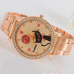 Women's New Rhinestone Rabbit Keith Rose Gold Watch – DKK kr. 68