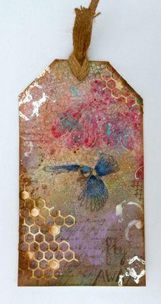 Made by Nicole Dieltjes van Poppel with 115633/0602 CraftEmotions Die - Cutting Grid - honingraat / honeycomb / Waben / Card 10,5x14,8cm / 8718736029555