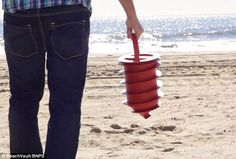 Handy gadget: Where to store your valuables on the beach is an age-old problem...