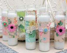 Dollar Store Crafts » Blog Archive » Make Wallpaper Wrapped Candles