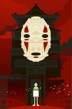 Studio Ghibli Art Print (Spirited Away) created by Danny Haas (available to purchase from Danny's or Etsy Shop) Hayao Miyazaki, Totoro, Studio Ghibli Art, Studio Ghibli Movies, Film Animation Japonais, Animation Film, Film Anime, Anime Manga, Hero Marvel