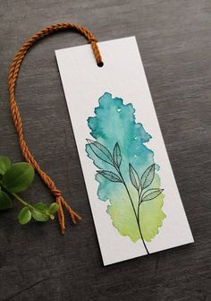 Creative Bookmarks, Paper Bookmarks, Watercolor Bookmarks, Watercolor Cards, Watercolor Flowers, Abstract Watercolor, Watercolour, Easy Doodles Drawings, Unique Drawings